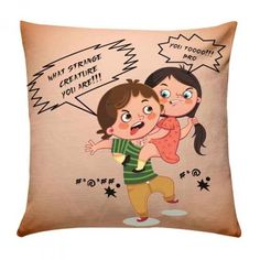 Brother Sister Fighting Cushion Remind your brother of sweet little fights you had with him by gifting him this wonderfully designed cushion this Rakhi. Brother And Sister Fight, Brother Sister Love Quotes, Brother And Sister Relationship, Sister Quotes Funny, Brother And Sister Love, Dear Sister, Siblings Funny, Anime Siblings, Happy Raksha Bandhan Images