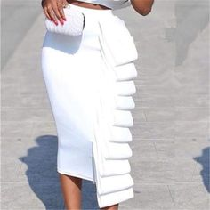 Jogging, Fancy Crop Top, Fly Dressing, Office Dresses For Women, Ruffles, All White Outfit, Dinner Outfits, Sexy Skirt, Skirt Outfits
