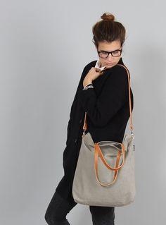 Schultertaschen - Tasche ELIN // sand - ein Designerstück von MINUK bei DaWanda, 79,00