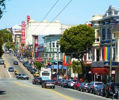 Castro Street district banners. Brilliant. No words needed.