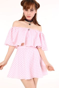 Image of Made To Order - Lolita Pink Gingham Set