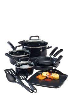 T-fal  Black Signature Nonstick 12-Piece Cookware Set
