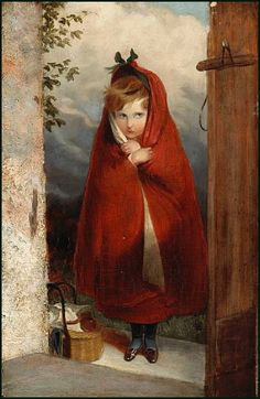 Sir Edward Landseer: Little Red Riding Hood. An illustration from Harper's Weekly, Dec. 29, 1866.