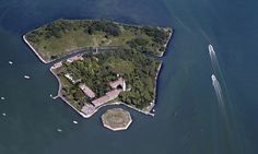 The abandoned Venetian island of Poveglia, home to a former hospital for plague victims.