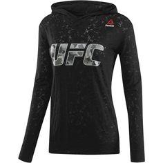 Reebok UFC Fan Burnout Hoodie ( 45) ❤ liked on Polyvore Black Reebok 6db5786a2827