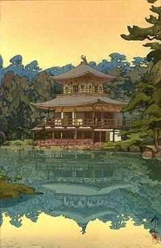 "Japanese Art Print ""Kinkakuji Temple"" by Yoshida Hiroshi"