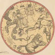 The Constellations for Each Month of the Year - Atlas of the Heavens, Elijah Burritt 1856a