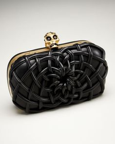 Woven Cord Box Clutch by Alexander McQueen at Neiman Marcus.