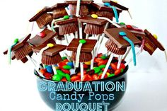 How to make a fun Grad Candy Jar out of common household items, a great gift idea for a graduate or decor for a graduation party. Description from pinterest.com. I searched for this on bing.com/images