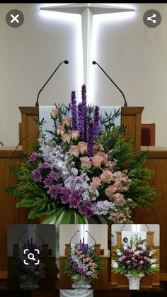 Funeral Floral Arrangements, Church Flower Arrangements, Rose Arrangements, Beautiful Flower Arrangements, Beautiful Flowers, Altar Flowers, Church Flowers, Funeral Flowers, Altar Decorations
