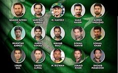 Pakistan Cricket Team for T20 World Cup 2016