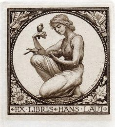≡ Bookplate Estate ≡ vintage ex libris labels︱artful book plates - Hanns Bastanier