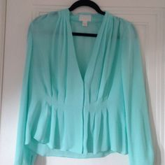 Sheer pleated J. Crew Collection silk blouse 100% silk. Beautiful and delicate. From their high end line Collection. Never been worn. Great work blouse. J. Crew Tops Blouses
