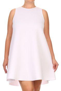 28d2c88a165 Plus Size Fix  Thick Comfortable Scuba Frock Dress Frock Dress