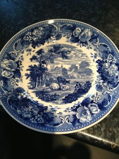 "Wedgwood ""Blue And White Collection Plate ""Pastoral"" Design Ltd Ed."