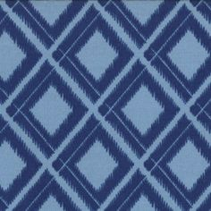 Simply Color - Ikat Diamonds in Navy Blue by V & Co for Moda Fabrics - Last Yard Navy Quilt, Thing 1, Dressmaking Fabric, Blue V, Color Blue, Colour, Modern Vintage Fashion, Contemporary Fabric, Quilt Kits
