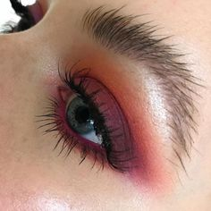 burgundy smokey eye, burgundy mascara, makeup for green eyes, brushed up brows, editorial makeup