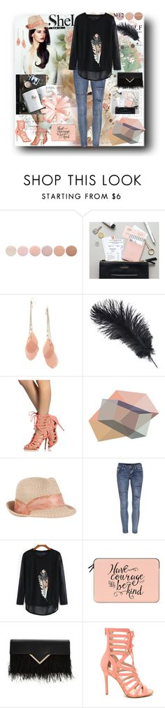 """""""Black Print Loose T-Shirt"""" by sheri-gifford-pauline ❤ liked on Polyvore featuring Deborah Lippmann, Forever 21, ADZif, Eugenia Kim and Casetify"""