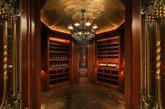 4000 bottle wine cellar at the Stone Mansion in Alpine, NJ