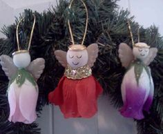 Homemade Angel Christmas Ornaments | Christmas Ornaments - Courtesy of BetterBudgeting.com
