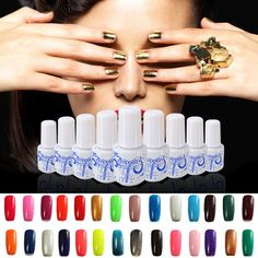 25 Colors 6ML Mini TAMANHO Soak Off Gel UV prego Art polonês Varnish