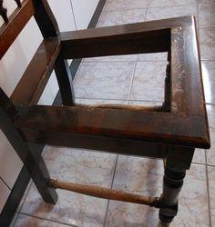 DIY - como restaurar cadeira  See here: http://customizando.net/como-restaurar-e-customizar-cadeira/