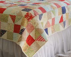 Avalon Scrappy Summer Quilt « Moda Bake Shop
