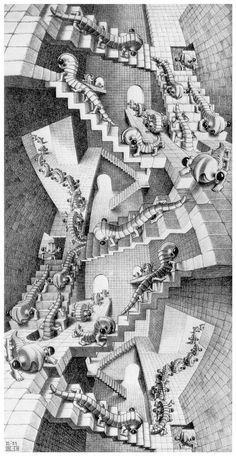 House of Stairs -  by M. C. Escher