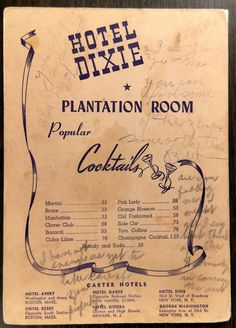 Date: 1944 (handwritten). Restaurant New York, Menu Restaurant, Tom Collins Cocktails, Grand Forks North Dakota, Lake Success, Frankenmuth Michigan, Parker House, Vintage Menu