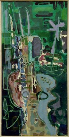 Patrick Heron, Girl in Garden : 1953 Patrick Heron, Surrealism Painting, Portrait Art, Portraits, Colorful Paintings, Love Painting, Artist Art, Abstract Art, Abstract Painters