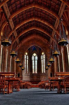 Suzzallo Library is the central library of the University of Washington in Seattle. This is pretty grand.