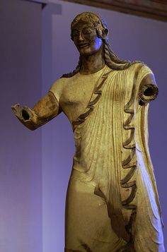 Etruscan terracotta: The so-called Apollo of Veii, National Etruscan Museum at Villa Giulia, Rome