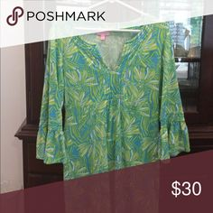 Dress Aqua,lime green, and white Lily Lilly Pulitzer Dresses