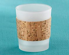 Tropical Chic Gold Glitz Cork Wrapped Tea Light Holder (Set of glass and gold flecked cork combine to create our Kate Aspen Tropical Chic G Mason Jar Candles, Best Candles, Votive Candles, Candleholders, Glass Tea Light Holders, Glass Votive Holders, Candle Wedding Favors, Beach Wedding Favors, Nautical Wedding