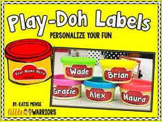 Personalized Editable Play-Doh Labels FREEBIE!!!! - Little Warriors