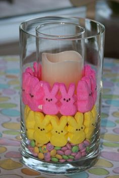 Peeps and M's-cute to give as a host gift or put in an adult Easter basket.