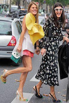 Die Looks dieser italienischen Stilikonen werden weltweit diskutiert und viel kopiert. Lasst euch inspirieren! Hier: Anna Dello Russo und Giovanna Battaglia