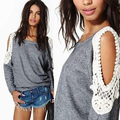 Women's Loose Long Sleeve T-shirts Cocktial Casual Blouse Shirts Tops Blouses HN