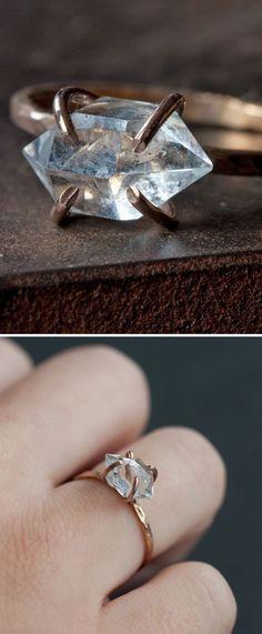 Herkimer Diamond Ring ❤︎
