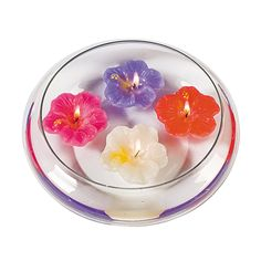 Hibiscus Floating Candles - OrientalTrading.com