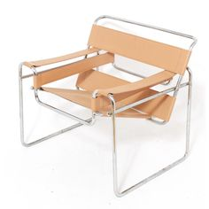 Marcel Breuer Wassily B3 Armchairs in Tan Leather   Chairish