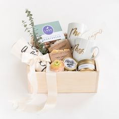 """""""Happily Ever After"""" Gift Box by Marigold & Grey // wedding gift / engagement gift / housewarming gift / anniversary gift / newlyweds / wedding / bride / groom / engagement / engaged / Source: https://www.marigoldgrey.com/shop/pre-designed-gifts.html"""