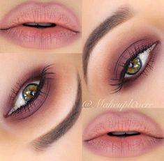 Matte rose shadow emphasizes green/hazel eyes beautifully #pinklipsmatte