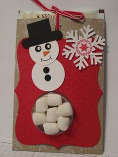 In My Craft Room - Stamping With Glenda: Snowman Hot Chocolate Treat Holder