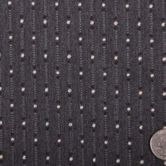 Gray/Pale Gray/Black Striped Suiting This is a light weight, heavy stretch wool suiting with an embroidered, dotted striped. Great for unique apparel. Grey And White, Gray, Suit Fabric, Mood Fabrics, Wool Suit, Fashion Fabric, Black Stripes, Swatch, Pattern Design