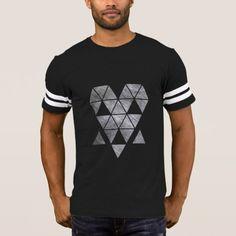 Designed stylish Iron creepy face men's dark football-shirt HQH T-Shirt