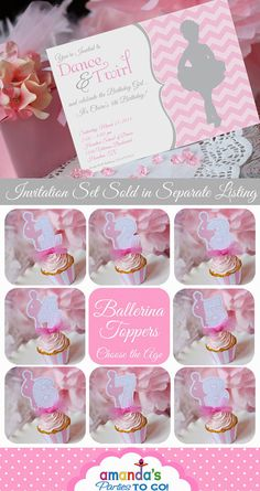 Ballerina Party Printable Ballet Party by AmandasPartiesToGo