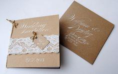 The vintage lace wedding invitation