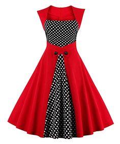 Amazon.com: Killreal Women's Polka Dot Retro Vintage Style Cocktail Party Swing Dress: Clothing