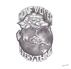Tattoo Drawings Of Money Half Sleeve Tattoo Stencils, Half Sleeve Tattoos For Guys, Full Sleeve Tattoo Design, Forearm Sleeve Tattoos, Hand Tattoos For Guys, Tattoo Design Drawings, Tattoo Designs Men, Angle Tattoo For Men, Mens Hand Tattoos